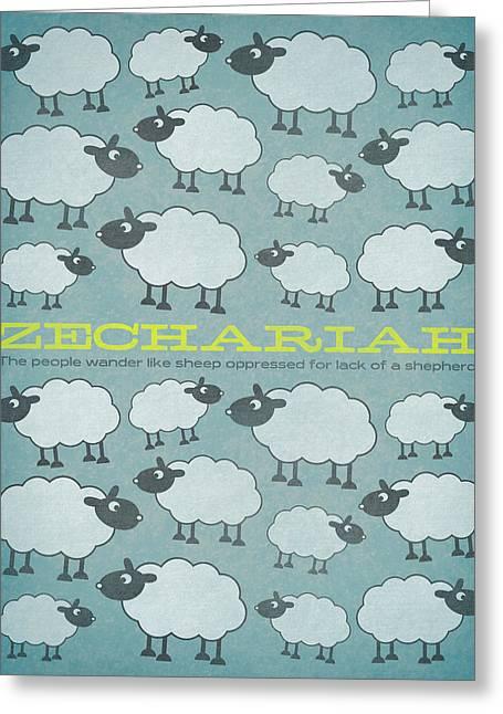 Bible Digital Art Greeting Cards - Word Zechariah Greeting Card by Jim LePage