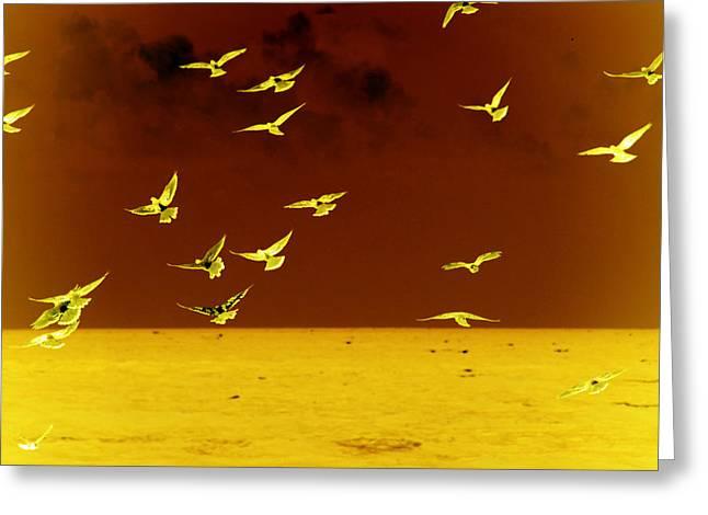 Surreal Greeting Cards - Words have no wings Greeting Card by Susanne Van Hulst