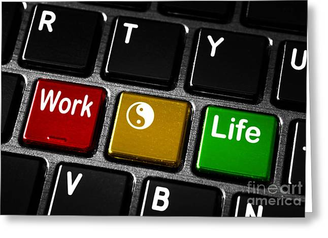 Work life balance Greeting Card by Blink Images