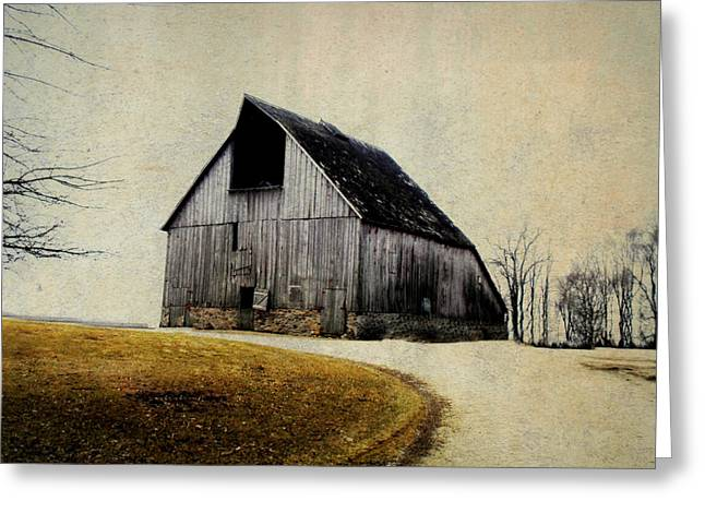 Shed Digital Art Greeting Cards - Work Wanted Greeting Card by Julie Hamilton