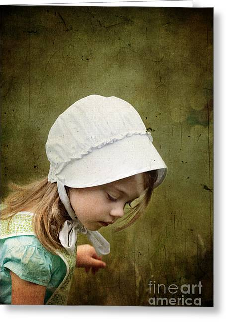 3 Year Old Girl Greeting Cards - Working in the Fields Greeting Card by Stephanie Frey