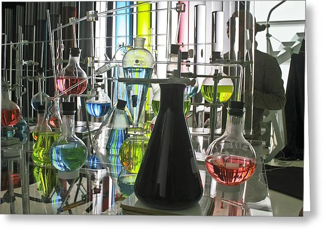 Working Laboratory Greeting Card by Kantilal Patel