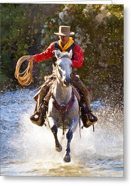 Big Basin Greeting Cards - Working Man Greeting Card by Janet Fikar