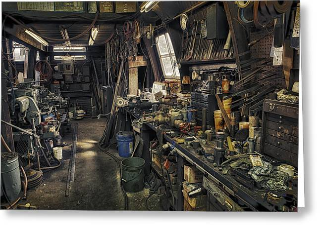 Work Place Greeting Cards - Workplace.3462 Greeting Card by Gary LaComa