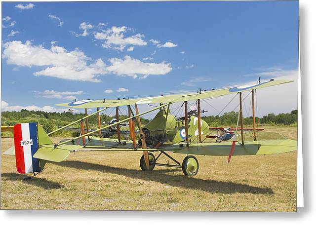 Airfield Greeting Cards - Worl War One 1916 Royal Aircraft F.E.8 Canvas Photo Poster Print Greeting Card by Keith Webber Jr