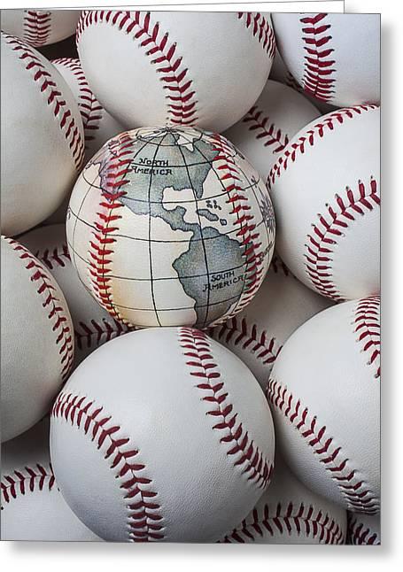 World Baseball Greeting Card by Garry Gay