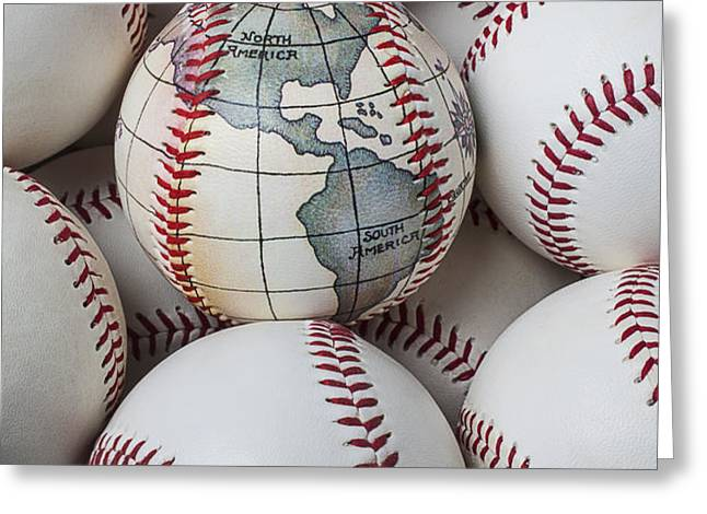 World baseball Greeting Card by Garry Gay