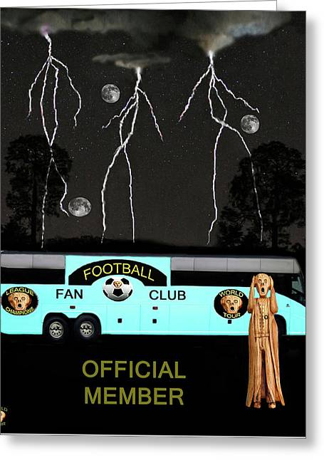 Official Member Mixed Media Greeting Cards - World Football Official Member Greeting Card by Eric Kempson