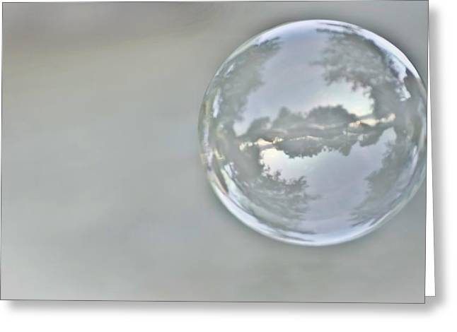 Convex Greeting Cards - World in a Bubble Greeting Card by Heather Applegate