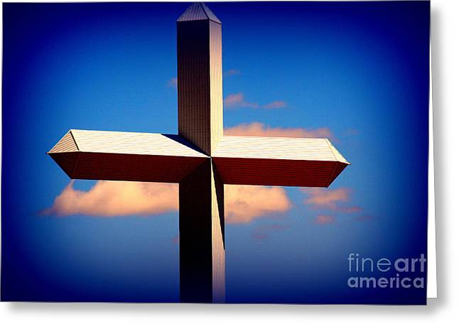 World Largest Cross In Illinois  Greeting Card by Susanne Van Hulst