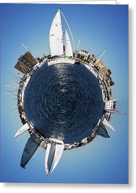 Sailboat Art Greeting Cards - World of Sailboats Charleston SC Greeting Card by Dustin K Ryan
