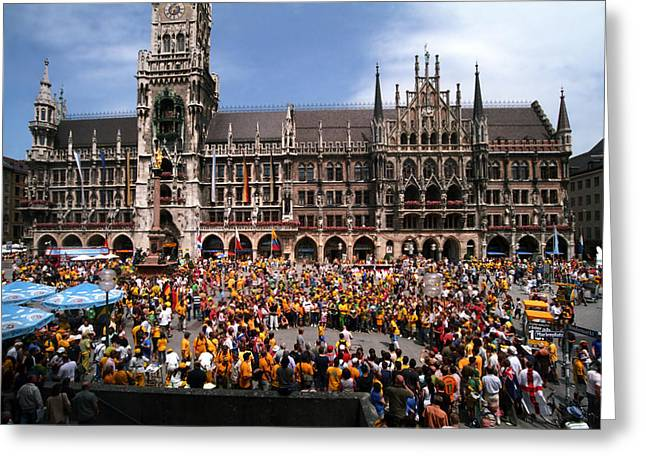 Marienplatz Greeting Cards - World Party Greeting Card by Kevin Smith