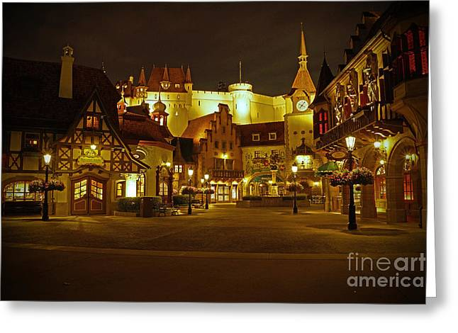Walt Disney World Greeting Cards - World Showcase - Germany Pavillion Greeting Card by AK Photography