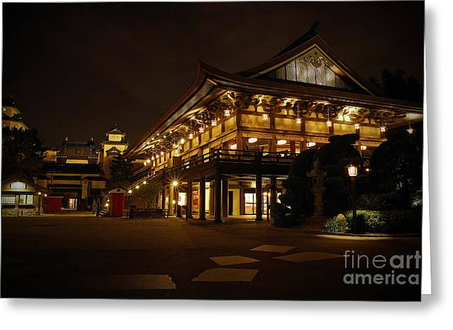 World Showcase Greeting Cards - World Showcase - Japan Pavillion Greeting Card by AK Photography