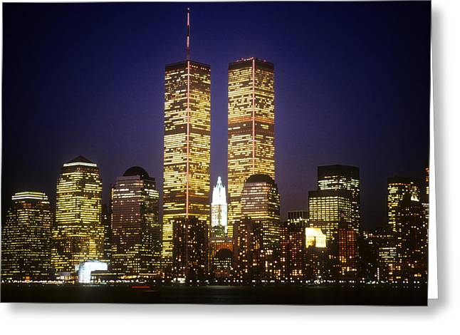 Trade Greeting Cards - World Trade Center Greeting Card by Gerard Fritz