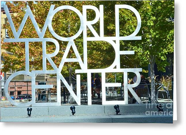 World Trade Center Greeting Card by Kathleen Struckle