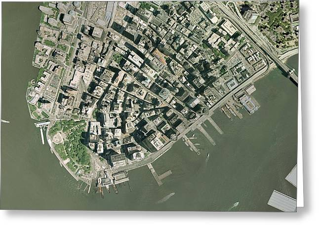 World Trade Centre Greeting Cards - World Trade Center Site, New York Greeting Card by Getmapping Plc