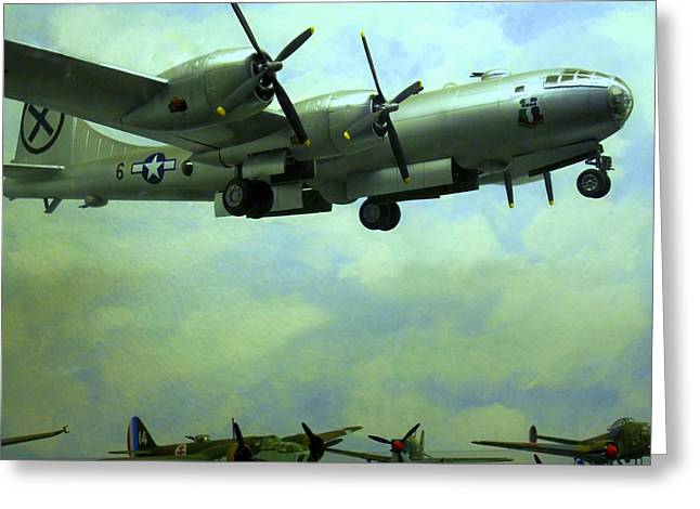 Airplane Engine Greeting Cards - World War II Aircraft 2 Greeting Card by Randall Weidner