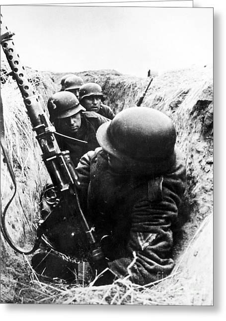 World War II: German Army Greeting Card by Granger