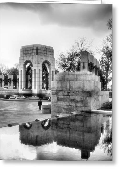Acrylic Art Greeting Cards - World War II Memorial I Greeting Card by Steven Ainsworth