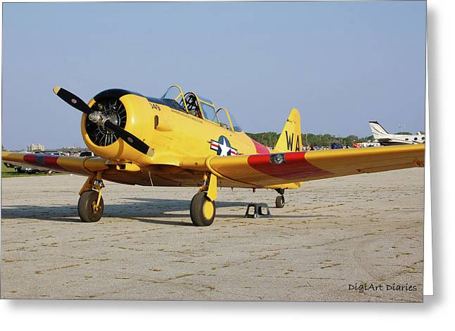 Smyrna Greeting Cards - World War II Warbird Greeting Card by DigiArt Diaries by Vicky B Fuller