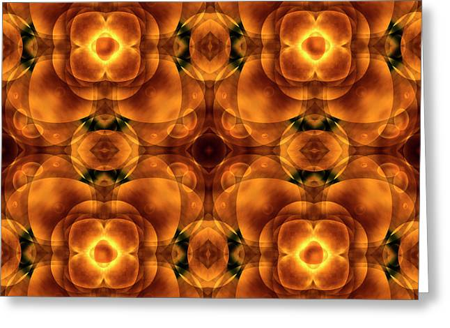 Earth Tone Digital Art Greeting Cards - Worlds Collide 8 Greeting Card by Mike McGlothlen