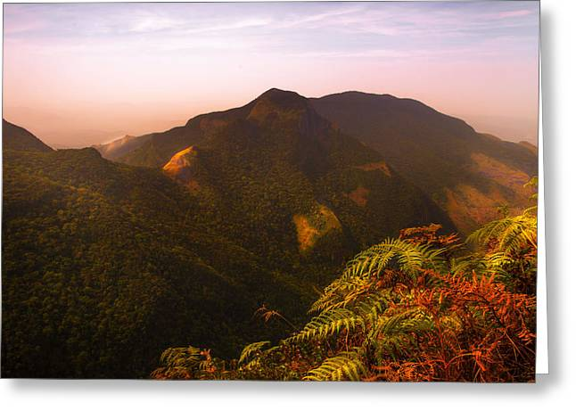 Ceylon Greeting Cards - Worlds End. Horton Plains National Park I. Sri Lanka Greeting Card by Jenny Rainbow