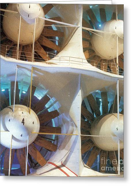 1980s Greeting Cards - Worlds Largest Wind Tunnel Greeting Card by Science Source