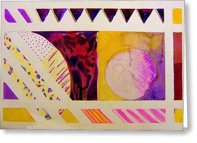 Abstractions Drawings Greeting Cards - Worlds Part Greeting Card by Mindy Newman