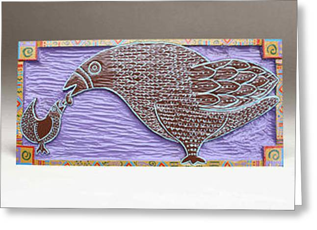 Purples Reliefs Greeting Cards - Worm Party Greeting Card by James Neill