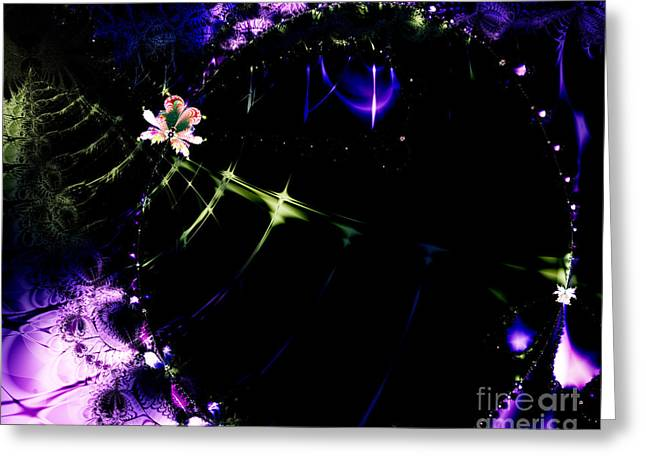 Wormhole Beyond . S4a.S10 Greeting Card by Wingsdomain Art and Photography