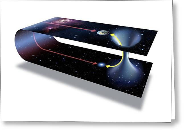 General Concept Greeting Cards - Wormhole, Conceptual Artwork Greeting Card by Detlev Van Ravenswaay