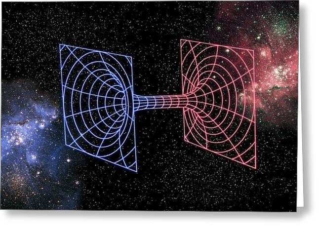 Warp Greeting Cards - Wormhole, Conceptual Artwork Greeting Card by Victor De Schwanberg