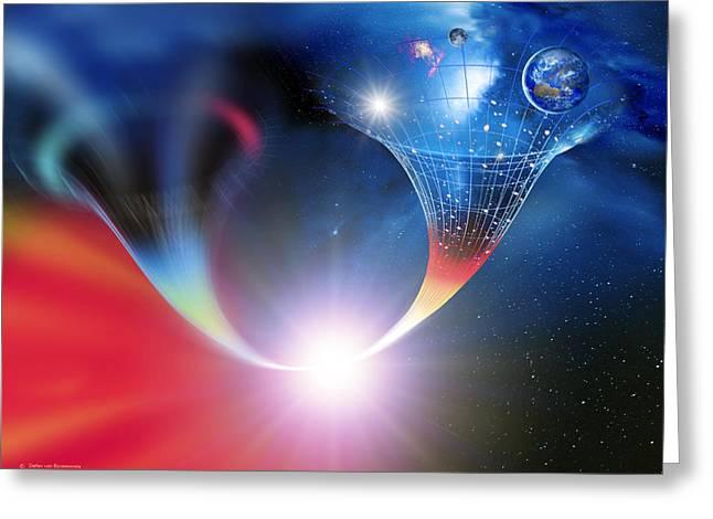 Wormhole In The Big Bang Greeting Card by Detlev Van Ravenswaay