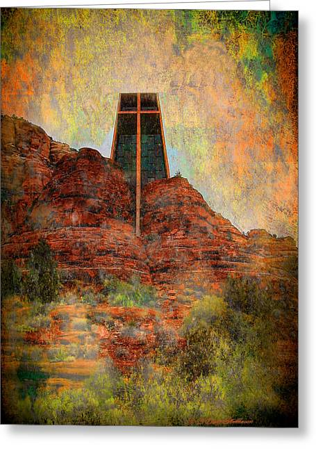 Worship In Sedona Greeting Card by Dale Stillman