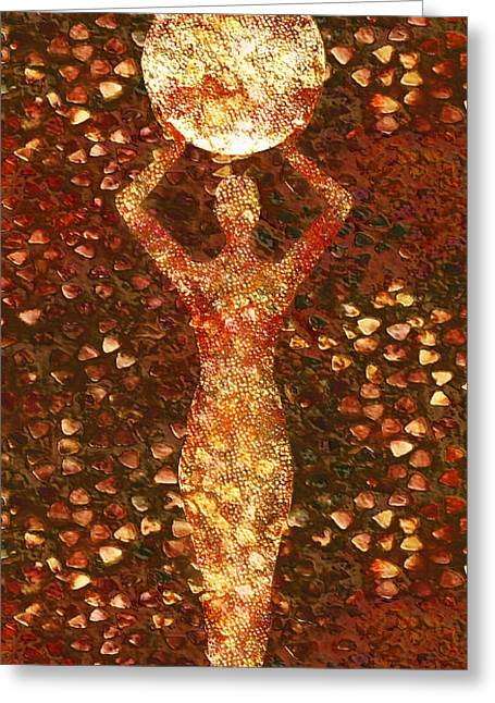 Aged Mixed Media Greeting Cards - Worth Greeting Card by Photodream Art