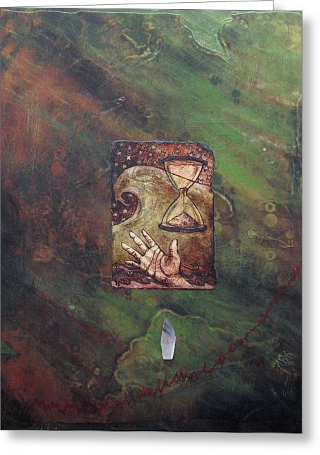 Janelle Schneider Greeting Cards - Wounded earth - Water Greeting Card by Janelle Schneider