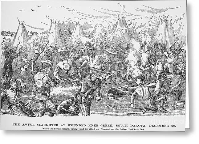 Wounded Knee, 1890 Greeting Card by Granger
