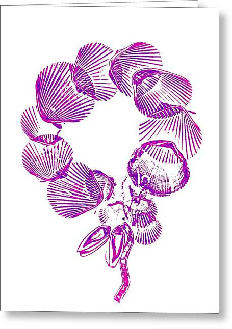 Xerox Digital Art Greeting Cards - Wreath Greeting Card by Sara Koenig King