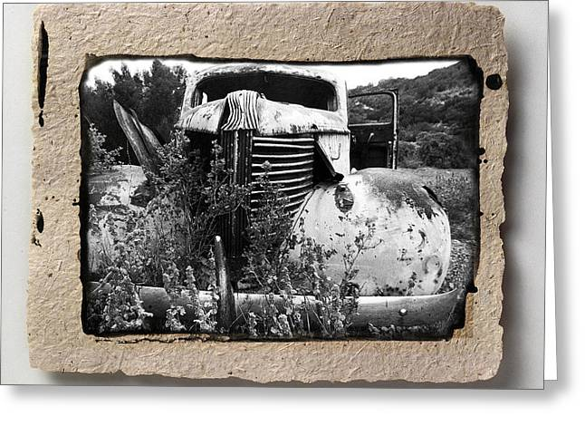 Abstract Digital Pyrography Greeting Cards - Wreck 1 Greeting Card by Mauro Celotti