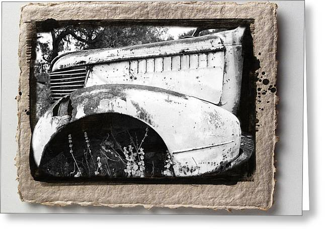 Abstract Digital Pyrography Greeting Cards - Wreck 2 Greeting Card by Mauro Celotti