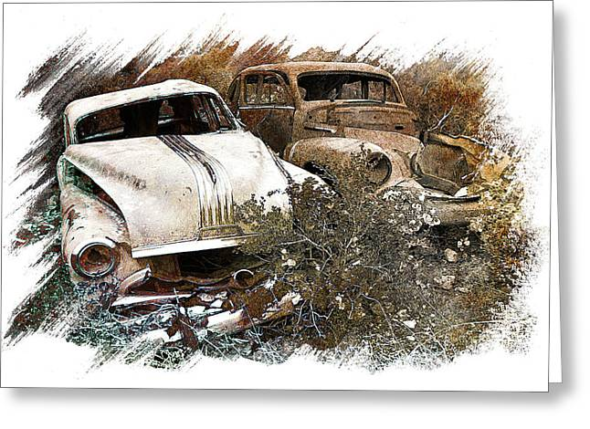 Metal Pyrography Greeting Cards - Wreck 3 Greeting Card by Mauro Celotti