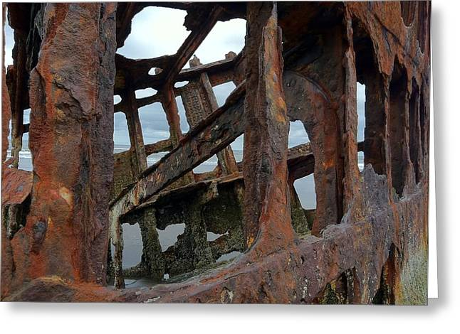 Architectural Treasure Greeting Cards - Wrecked Greeting Card by Elaine Dickman