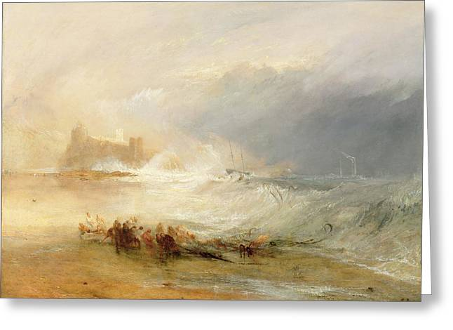 Off-shore Oil Greeting Cards - Wreckers - Coast of Northumberland Greeting Card by Joseph Mallord William Turner