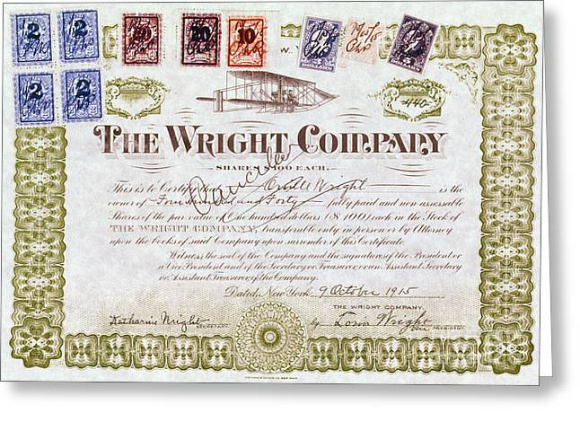 1915 Greeting Cards - Wright Brothers, 1915 Greeting Card by Granger