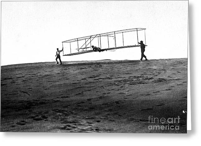 Famous Aviators Greeting Cards - Wright Brothers Glider, 1902 Greeting Card by Science Source