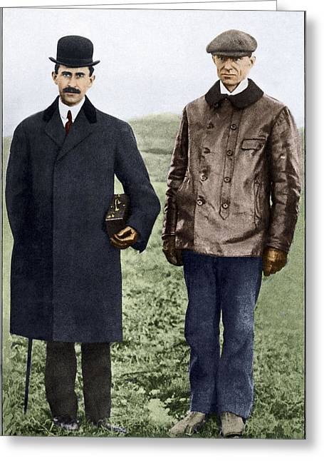Aviation Pioneers Greeting Cards - Wright Brothers, Us Aviation Pioneers Greeting Card by Sheila Terry