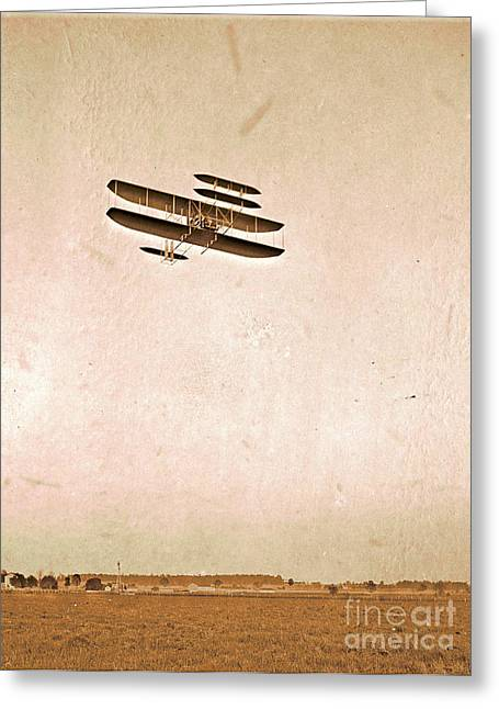 Bothers Greeting Cards - Wright Flying School Greeting Card by Padre Art