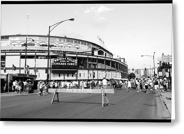 Recently Sold -  - Pastimes Greeting Cards - Wrigley Field Greeting Card by Courtney Lively