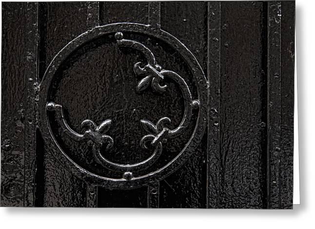 Interior Still Life Photographs Greeting Cards - Wrought Iron Design Greeting Card by Robert Ullmann